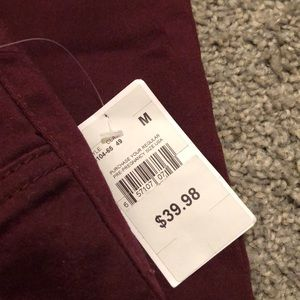 4b8ca00465401 Motherhood Maternity Pants | Maroon Burgundy Maternity Jeans | Poshmark